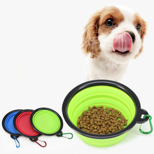 Collapsible Silicone Pets Dog Bowl Food Water Feeding BPA Free Foldable Travel Cup for Dogs Cat Puppy Portable Dish Tableware