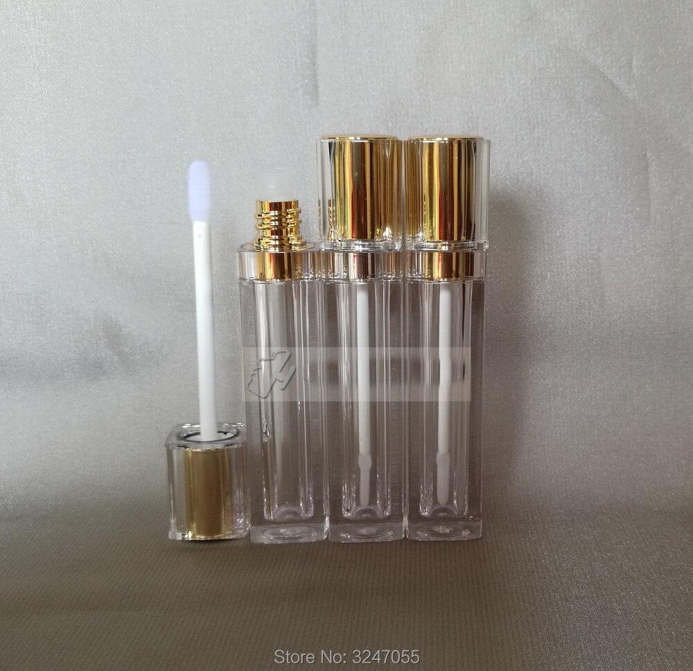 8 ml 40 개/몫 고급 화장품 립글로스 병, 우아한 골드 스퀘어 플라스틱 립스틱 리필 튜브, 여성 미용 도구-에서리필 병부터 미용 & 건강 의  그룹 3