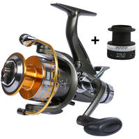 YOLO Spinning Fishing Reel +Extra Spool 3000 6000 10BB Carp Reel 5.1:1 Feeder Front and Rear Drag System Sea Fishing Reel