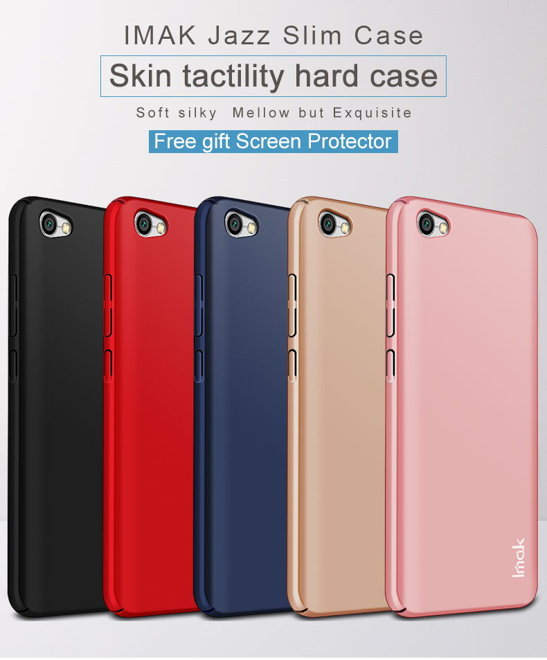 IMAK Jazz Series Hard Case for Xiaomi Redmi Note 5A Case Glossy PC Full Protective Back Cover + Screen Protector For Note 5A