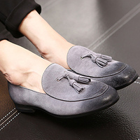 Tassel male loafers plus size 38 47 round toe massage high quality casual dress men shoes 2019 new basic adult shoes