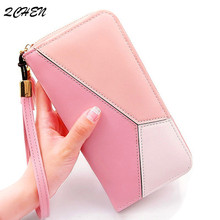 Wallets Women Long Zipper Luxury Brand Leather Coin Purses Tassel Design Clutch Wallets Female Money Bag Credit Card Holder 106