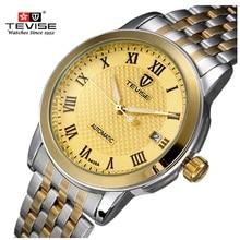 Original Gran Dial Hombres Reloj Mecánico Luminoso de Lujo Famoso Reloj de la Marca A Prueba de agua Hombres Reloj de Acero Reloj de pulsera para Hombres Relogio
