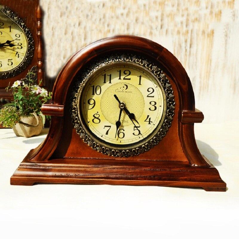 Wood table clock digital watch reloj bracket clock saat for Reloj digital de mesa