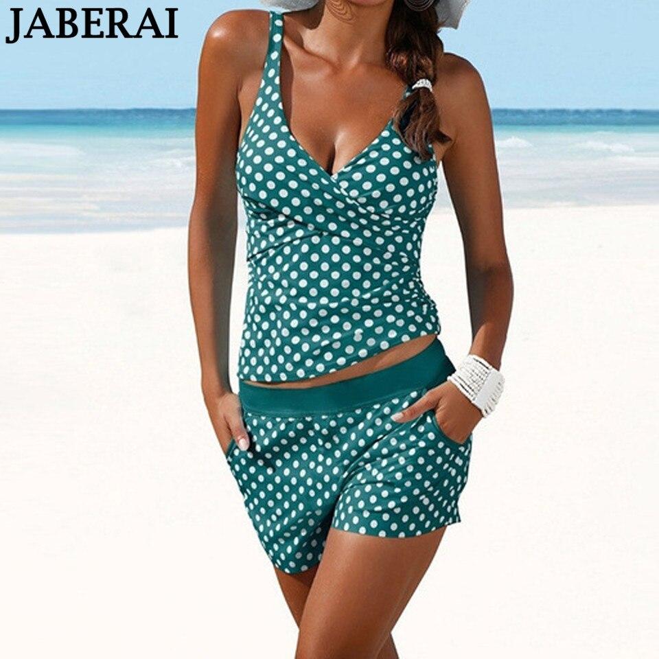 JABERAI Bikinis Women Swimsuit Large Size Retro Shorts Tankini Set Bikini Female Push Up Bathing Suit Maio Beach Swimwear