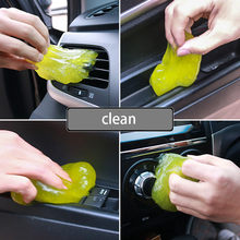 Clean Glue Gum Silica Gel Car Keyboard Dust Dirt Cleaner Cute Green Slime Practical Durable High Quality Magic Soft Sticky #YL6(China)