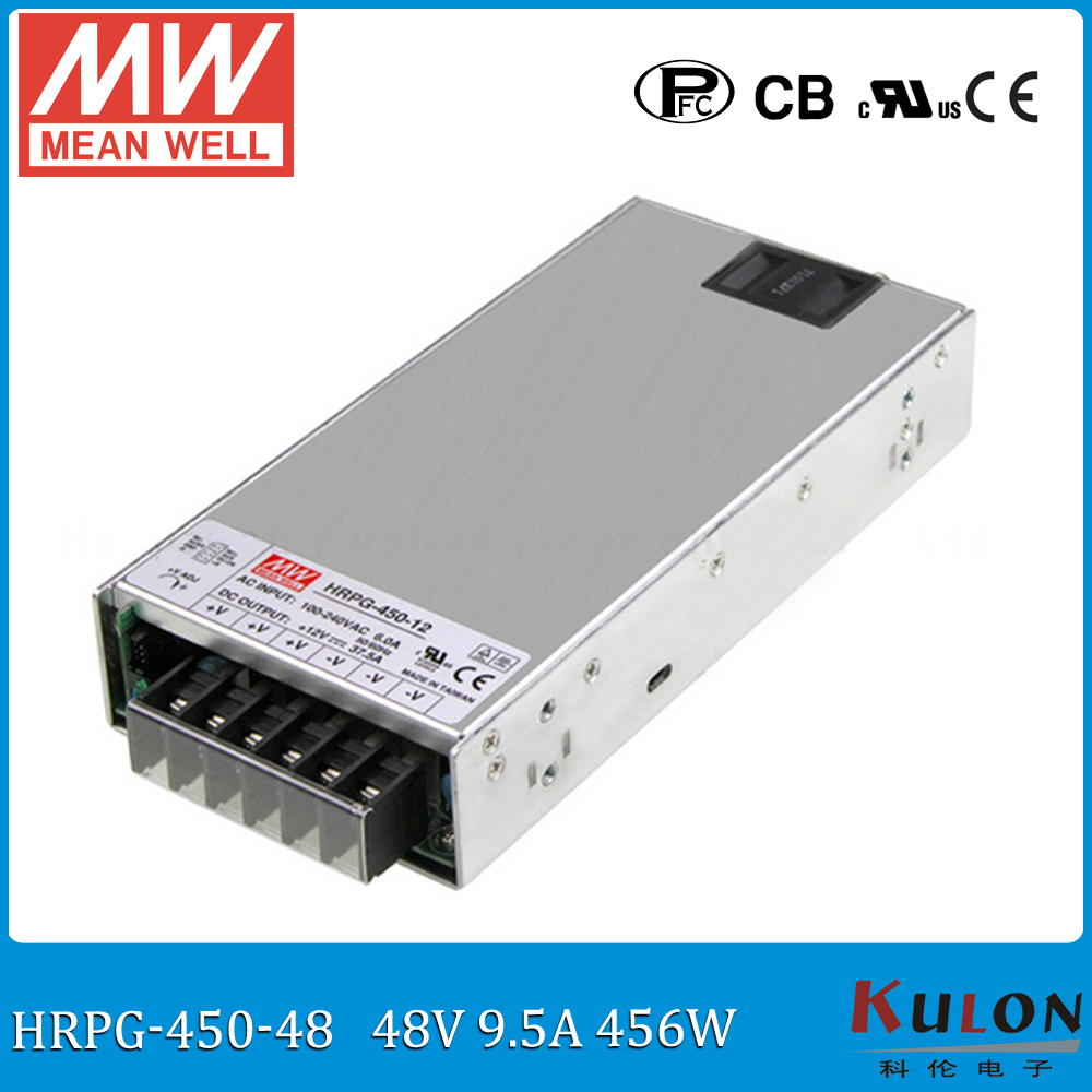 Original MEAN WELL HRPG-450-48 450W 9.5A 48V Power Supply meanwell low power consumption power supply 48V with PFC function цена 2017