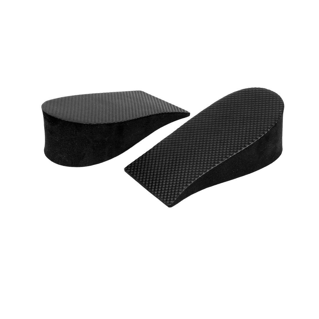 TEXU 2 Pcs 3.5cm Height Increase Heel Lifts Foam Pads Insoles Black
