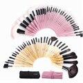 Mulher's Pro 32 Pcs Make Up Tools Pincel Maquiagem Batom Creme de fundação Cosméticos Beleza Makeup Brushes Set Kit + Bolsa saco