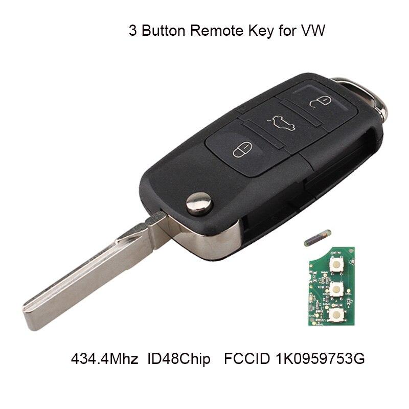 3Buttons Remote Key For VW VOLKSWAGEN SEAT Altea Leon Toledo 2002-2008 ID48 Chip 1K0959753G 1K0 959 753 G Original key3Buttons Remote Key For VW VOLKSWAGEN SEAT Altea Leon Toledo 2002-2008 ID48 Chip 1K0959753G 1K0 959 753 G Original key