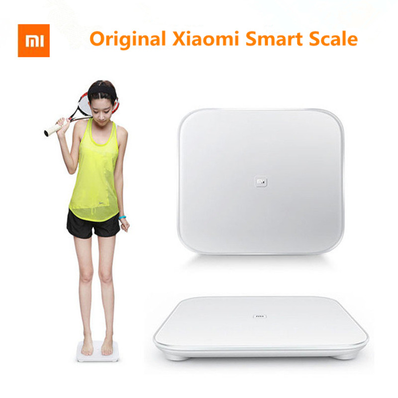 Original XIAOMI MI Smart Weighting Scale XIAOMI Scale for Android iOS Devices Digital Household Scale White  цены
