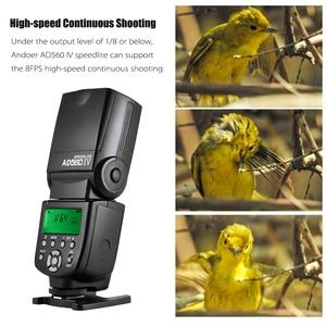 Image 5 - Andoer AD560 IV 2,4G беспроводной универсальный Slave Speedlite светильник GN50 w/Flash Trigger для Canon Nikon Sony A7 DSLR