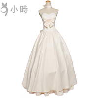 Cosplay Japanese game FGO Fate/stay night saber Arturia Pendragon Champagne Wedding dress Cos Clothes