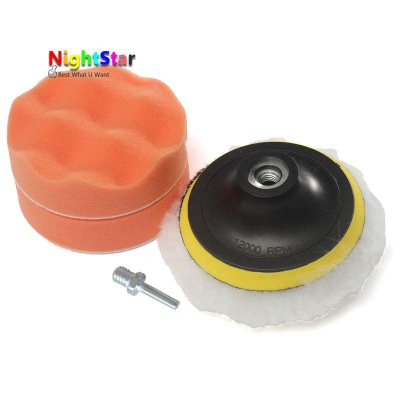 4'' Gross Buffer Pad Kit + M10 Drill Adapter For Car Shell Window Light Polisher степлер мебельный gross 41001