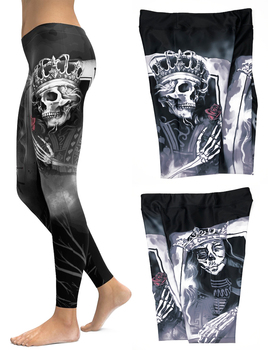Skull Leggings Yoga Pants Women Sports Pants Fitness Running Sexy Push Up Gym Wear Elastic Slim Workout Leggings 9