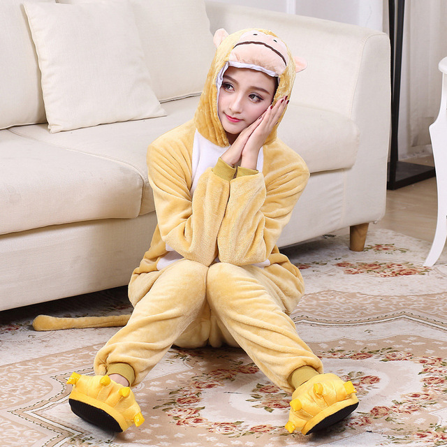 Unisex Zodiac Cosplay Monkey Pajamas Onesies Winter Kawaii Anime