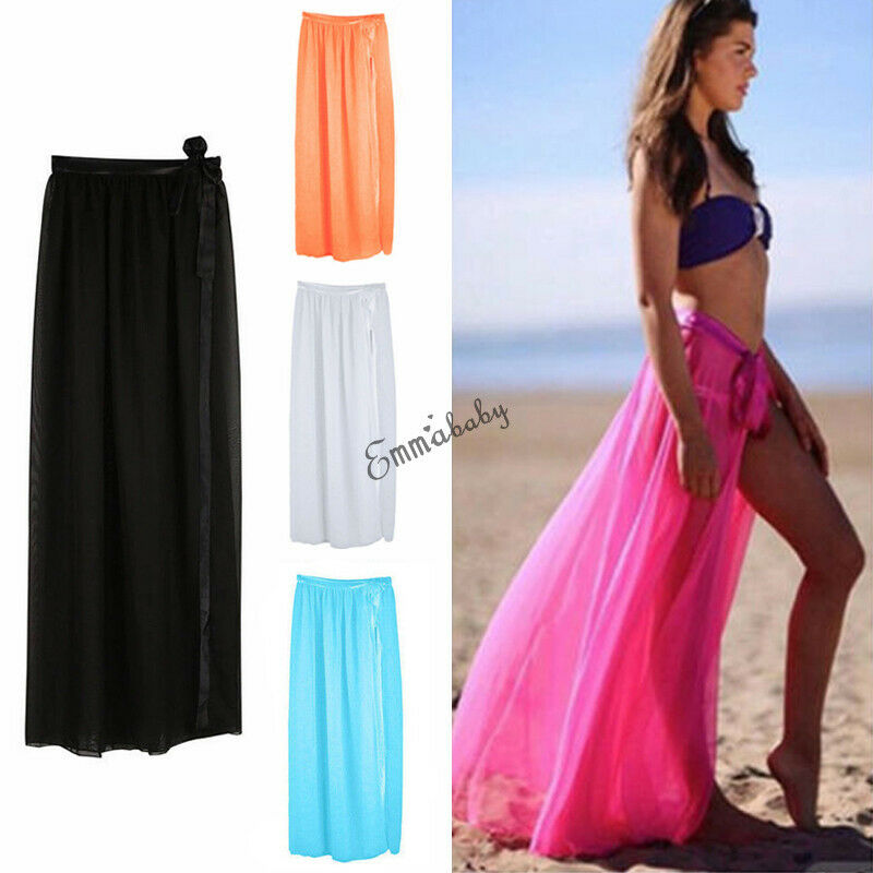 2019 New <font><b>Fashion</b></font> Swimwear Cover Up <font><b>Beach</b></font> <font><b>Dress</b></font> Sarong <font><b>Summer</b></font> <font><b>Sexy</b></font> <font><b>Women</b></font> Ladies Skirt Bikini Maxi Wrap Hot Sell image