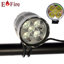 10400 Mah batería opcional a prueba de agua Caliente 6000 Lúmenes de La Linterna 5 x CREE XM-L T6 LED de la Bicicleta de La Bici de Faros de Luz De Aluminio aleación