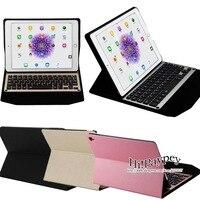 Ультра-тонкий Алюминиевый Bluetooth Съемная Клавиатура Портфолио Case, Smart Case с Авто Режим Сна/Пробуждение, для Apple iPad Pro 9.7 дюйма