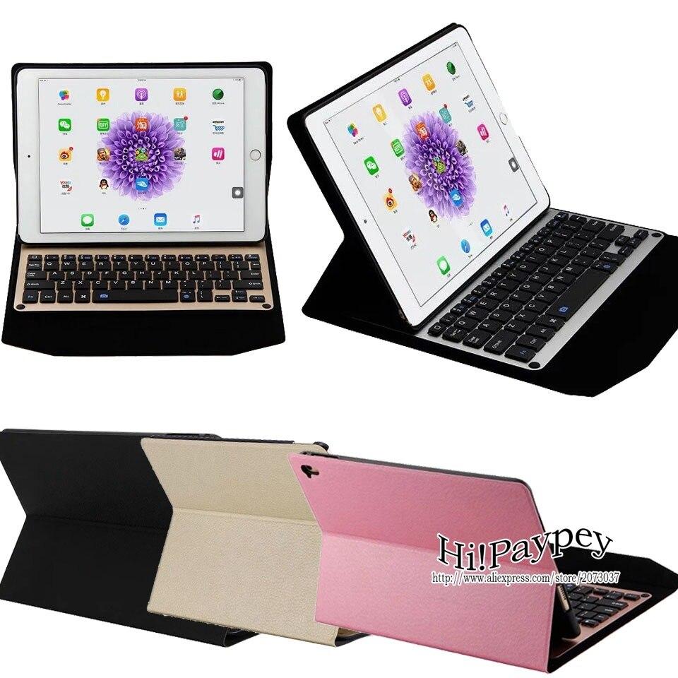 все цены на  Ultra-thin Aluminum Bluetooth Removable Keyboard Portfolio Case, Smart Case with Auto Sleep / Wake, For Apple iPad Pro 9.7 inch  онлайн
