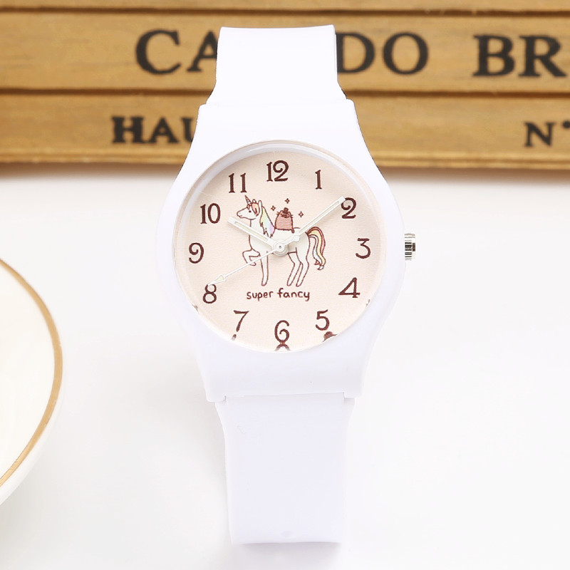 Brand New Fesyen Cute Harajuku Unicorn Girl's Boy Kanak-kanak Watch kalis air SportS Jelly Watch Wanita HOT Watch pergelangan tangan