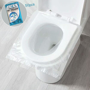 50Pcs Disposable Paper Toilet Seat Covers Camping WC Bacteria-proof cover For Travel/Camping Bathroom(China)