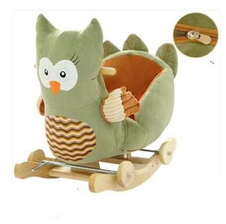 Balançoire bébé peluche cheval jouet chaise à bascule bébé videur bébé balançoire siège extérieur bébé pare-chocs enfant Ride On jouet poussette à bascule jouet - 3