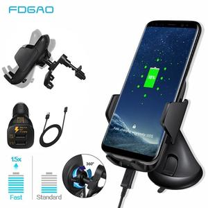 Car-Charger Mobile-Phone-Holder iPhone 11 Samsung S10 Wireless 10W for Xs-Max Xr-X-8