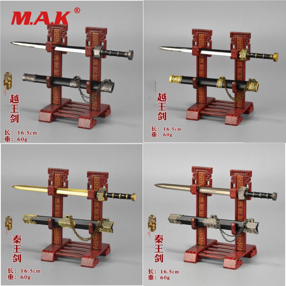 1:6 Scale Figure Accesssories The Kings of Yue/Qin Sabre Sword Weapon Model Toy with Stand for 12 Action Figure Doll