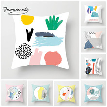 Fuwatacchi Ink Painting Printed Cushion Cover Cactus Pillow for Home Decor Living Room Plant Square Throw Cases