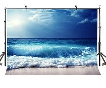 150x220cm Sea Wave Backdrop Blue Sea Rough Sea Rush Photography Background for Camera Photo Props недорого