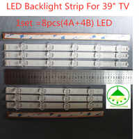 "100%New 1set =8pcs(4A+4B) LED LED Backlight Strip For 39"" TV LG lnnotek POLA 2.0 39"" A B HC390DUN-VCFP1-21X"