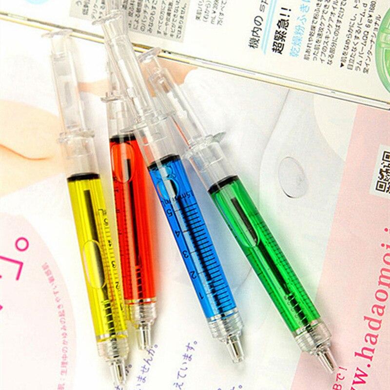 12 pcs Syringe pen Ballpoint pens 0.7mm signature Stationery ballpen caneta escolar Novelty gift Office school supplies A6219