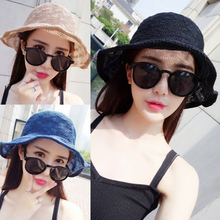 91bedfc7566 JERYAFUR 2018 Summer New Style Sun Hat Korean Ladies Folding Outdoor  Fisherman Hat Holiday Basin Cap