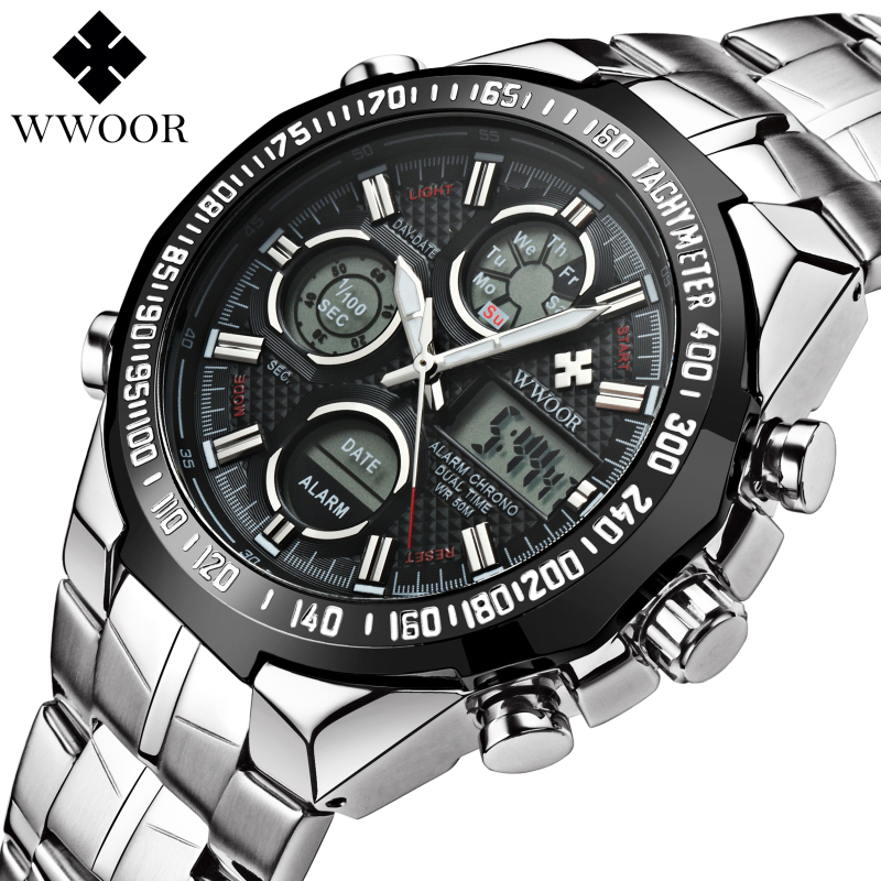 Top Brand Luxury Waterproof Men Sports Watches Men's Quartz LED Casual Clock Male Army Military Wrist Watch Relogio Masculino top brand luxury waterproof men sports watches men s quartz led digital clock male army military wrist watch relogio masculino