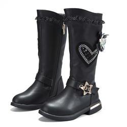 Mudipanda из натуральной кожи ботинки для девочек модные женские дети снегоступы Водонепроницаемый теплые длинные-цилиндр Детские ботинки