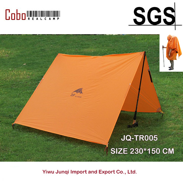 Backpacker 15D Silicone Fabric Camping Shelter Tarp and Waterproof Raincoat Sun Shades Shelters Canopy Waterproof