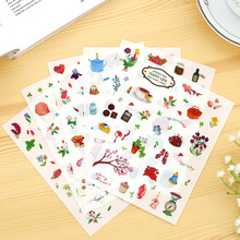 6 Pcs Happy Life Diary Decorative Stickers Transparent Pet New Phone Stickers Diary Stickers Scrapbook Paper