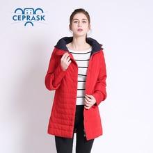 2017 Thin Women's Coat Spring Autumn Women's Fashion Windproof Parkas Female Hood Jacket New Large size6XL 7XL  Hot Sale CEPRASK