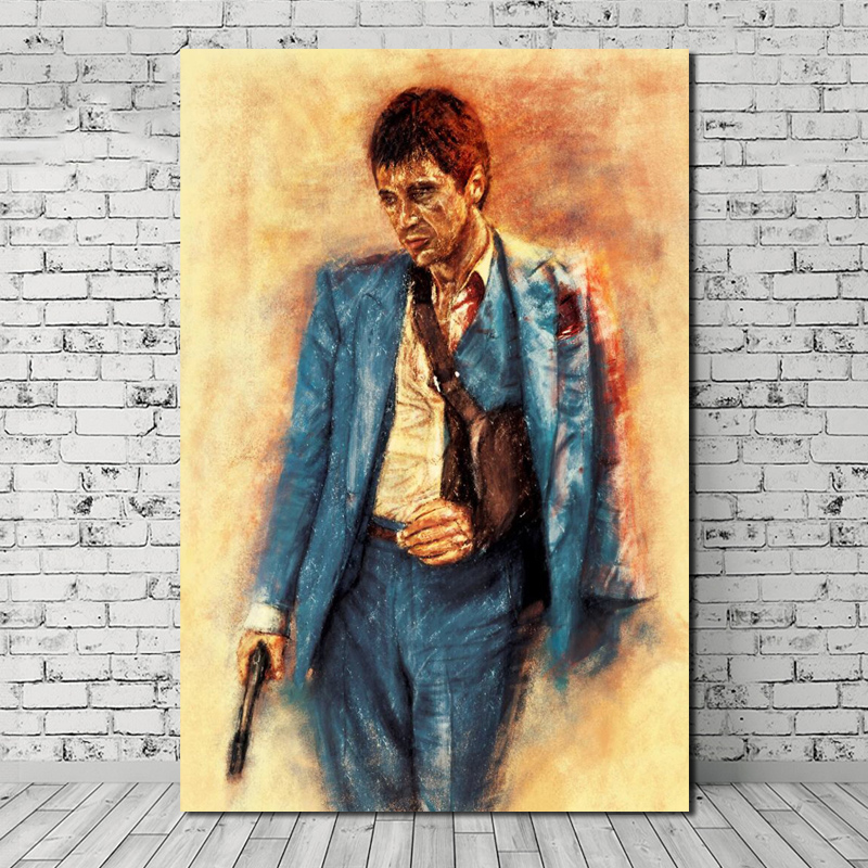 Scarface Classic Movie Art Canvas Poster  8X12 12x18 inch