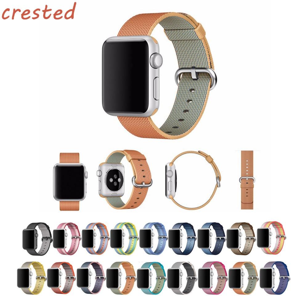 AIGRETTES sangle En Nylon pour apple bande de montre 42mm 38mm sport poignet bracelet & tissu comme tissé nylon bracelet pour iwatch 3/2/1
