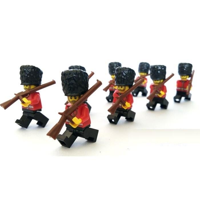Британской королевской гвардии солдат город пистолет оружие SWAT Полиция Военная Модель комплекты кирпичи Конструкторы оригинальный Мини Ц...