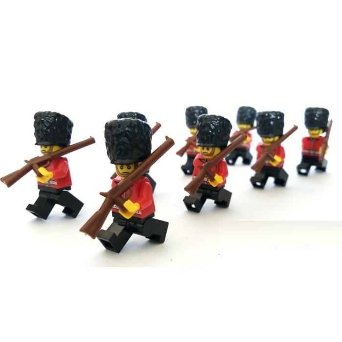 British royal guard soldier city gun weapons swat police military model kits Bricks Blocks original mini figures Toy