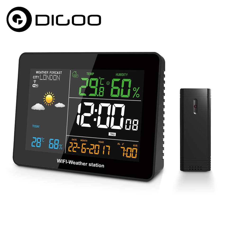 DIGOO DG-TH8788 WIFI Weather Station APP Remote Setting Automatic Connect Smart Home Multifunction Thermometer Hygrometer dg home стул james