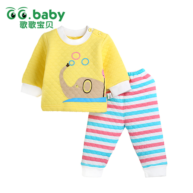 Elephant Baby New Newborn Baby Boys Clothes Set Winter Infant Baby Girls Tracksuits Clothing Children Suit Sets Animal Outdoor