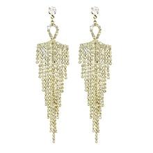 Long Rhinestone Drop Earrings Silver and Gold Crystal Tassel Earrings for Women Fashion Earrings Long Wedding Jewelry Party Gift цена