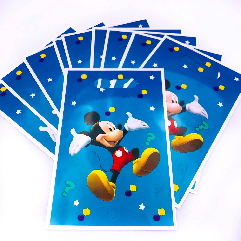 Detail Feedback Questions About 10pcs Classic Mickey Mouse Gift Bags 2nd Birthday Decorations Ideas Baby Boy Party Supplies Cartoon Candy Plastic Cupcake
