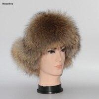 2017 Winter Warm Ear Protector Bomber Hats Real Fox Fur Cap Top fabric fox ball Flower Ball Women Fashion Hat
