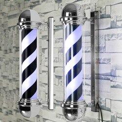 LED الحلاق متجر تسجيل ضوء القطب أسود أبيض أزرق شريط تصميم الدورية صالون الجدار مصباح معلق ضوء مصباح صالون تجميل