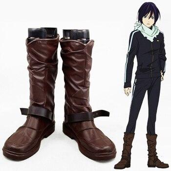 Anime Noragami Yato Cosplay Schuhe Männer pu Leder Stiefel Benutzerdefinierte Größe Kostenloser Versand 051804